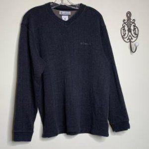 Columbia Cotton Dark Gray Knit Sweater Sz L